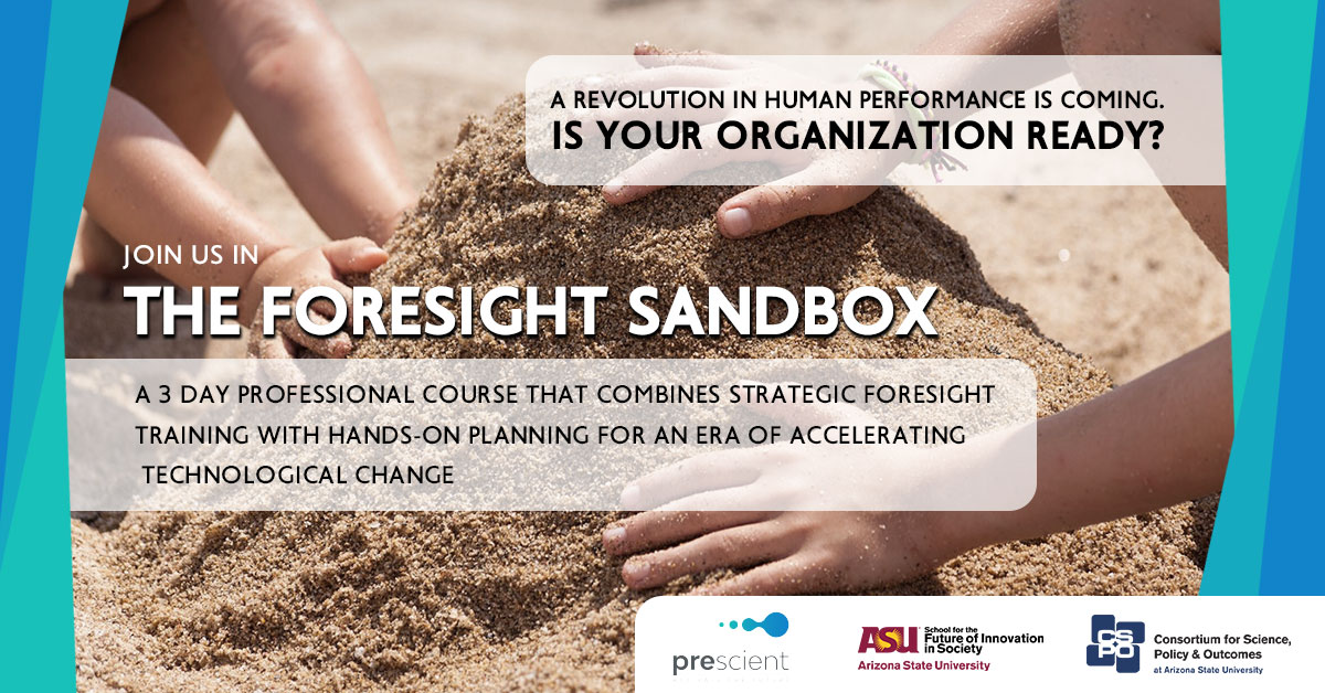2020 Foresight Sandbox Prescient executive foresight training
